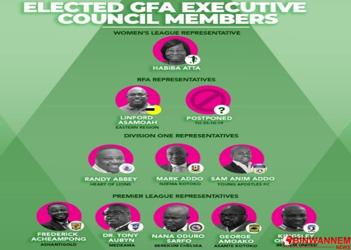 The newly elected Ghana  Football Association Executives