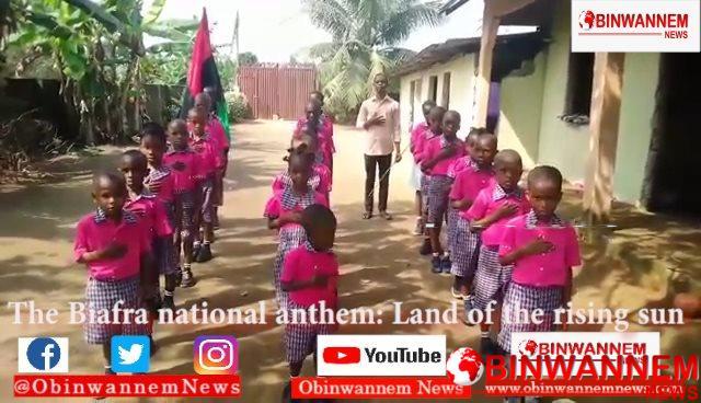 Biafra: Pupils Recites Biafran Anthem During Morning Devotion