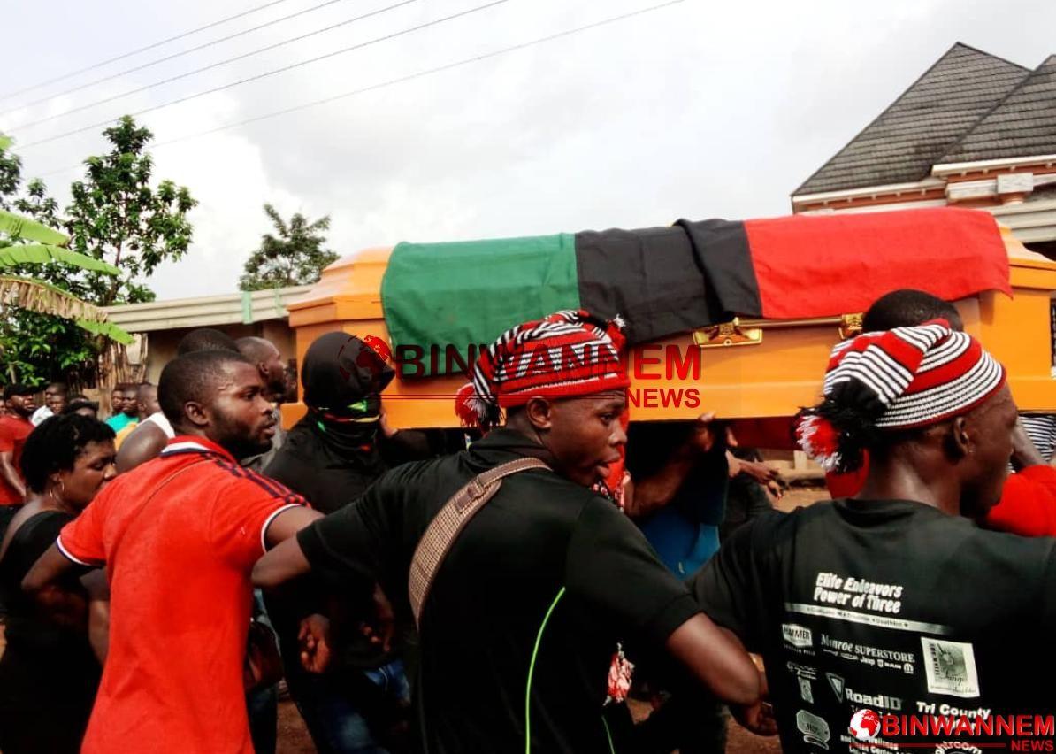 Anike In Enugu Shakes As IPOB Pays Last Respect To Mazi Okechukwu Nwoye