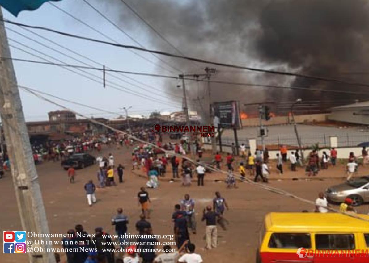 Breaking News: Heavy Fire have taken over Ekiosa Market In Benin city Nigeria
