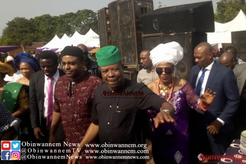 Breaking: Emeka Ihedioha present at the burial reception of Eze Ogugua – (PHOTOS)