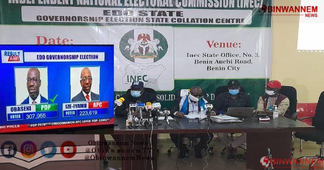 Breaking News Edo governorship election: INEC declares Obaseki of PDP winner