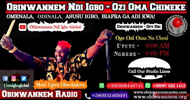 OBINWANNEM: Chukwu Okike Abiama living in the hearts of all umu Igbo global
