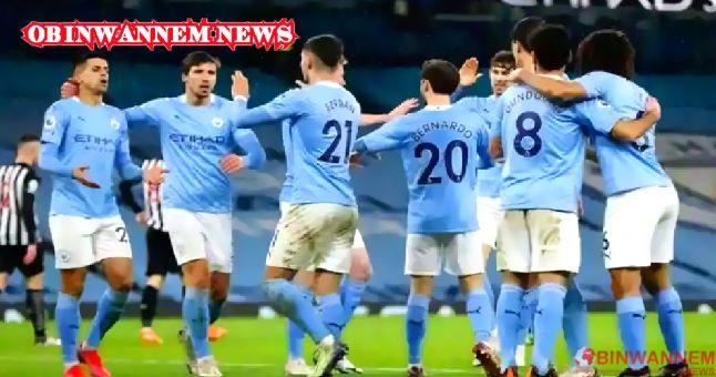 Man City beats Everton, opens a 10-point lead