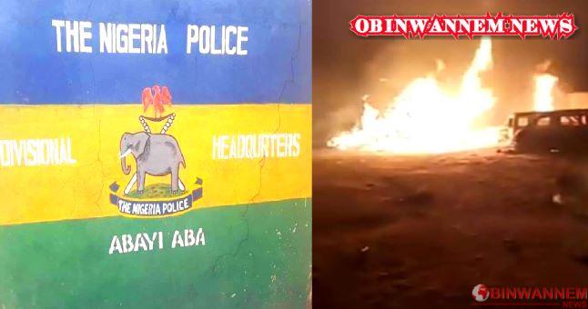 Thugs set ablaze police station in Abia, kill policeman, free suspect