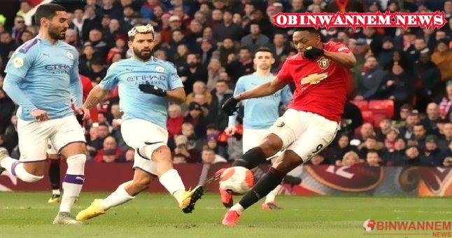 Man United nets twice, ends City's 21 straight winnings
