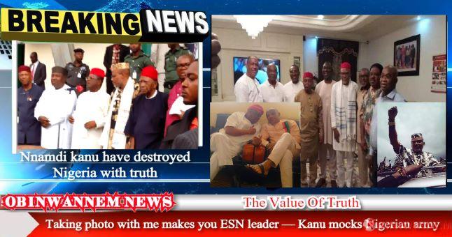 Taking photo with me makes you ESN leader — Kanu mocks Nigerian army