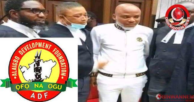 ADF Applauds Igbo lawyers for solidarity with Nnamdi Kanu